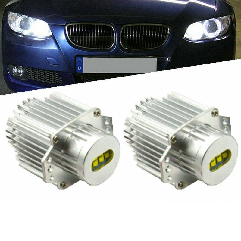 2Pcs 160W LED Halo Ring Marker Angel Eyes Light Bulb Canbus Error Free for BMW E90 E91 325I 328I 320I 330I 2005-2008